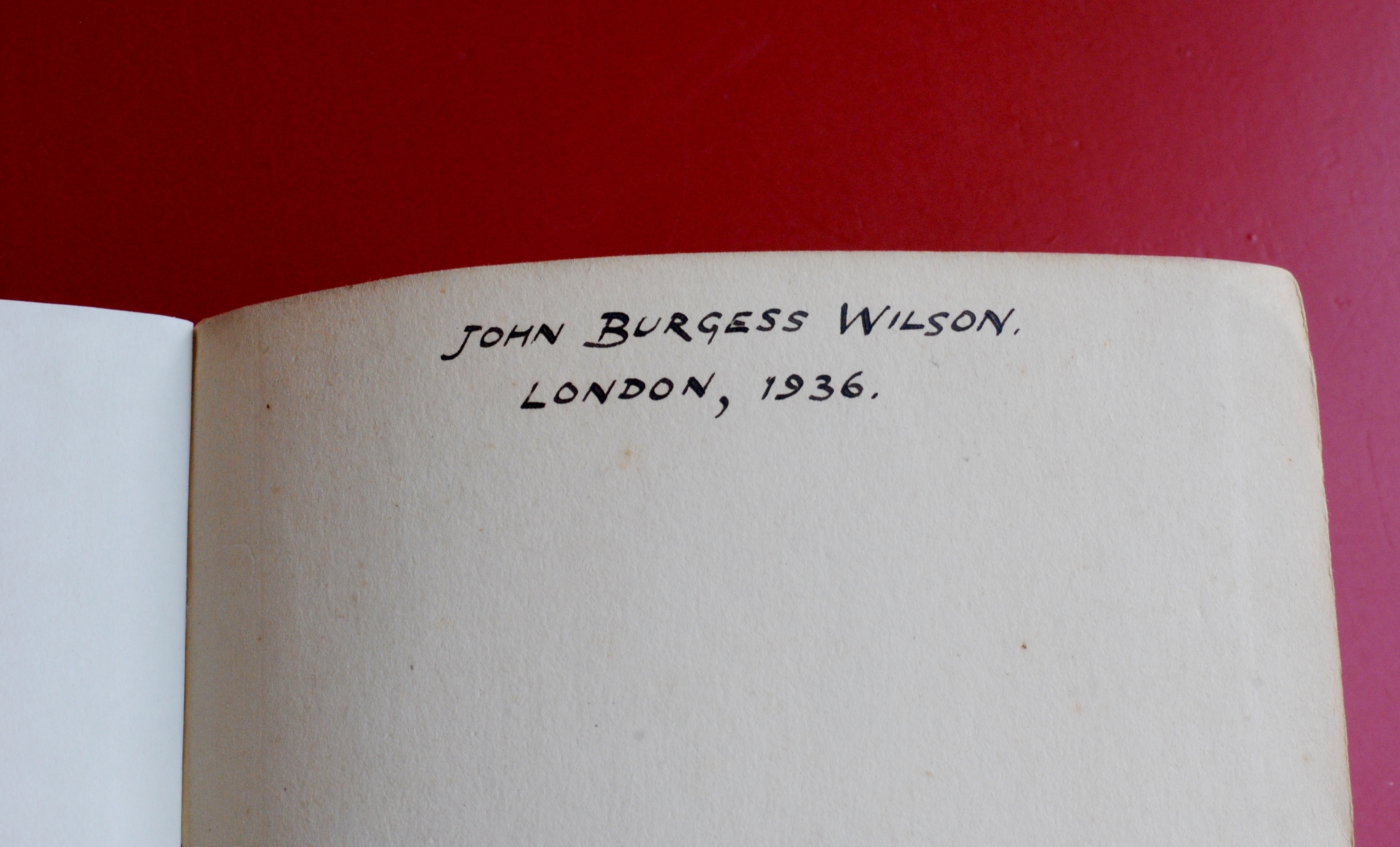 Object Of The Week Burgesss Copy Of Collected Poems By