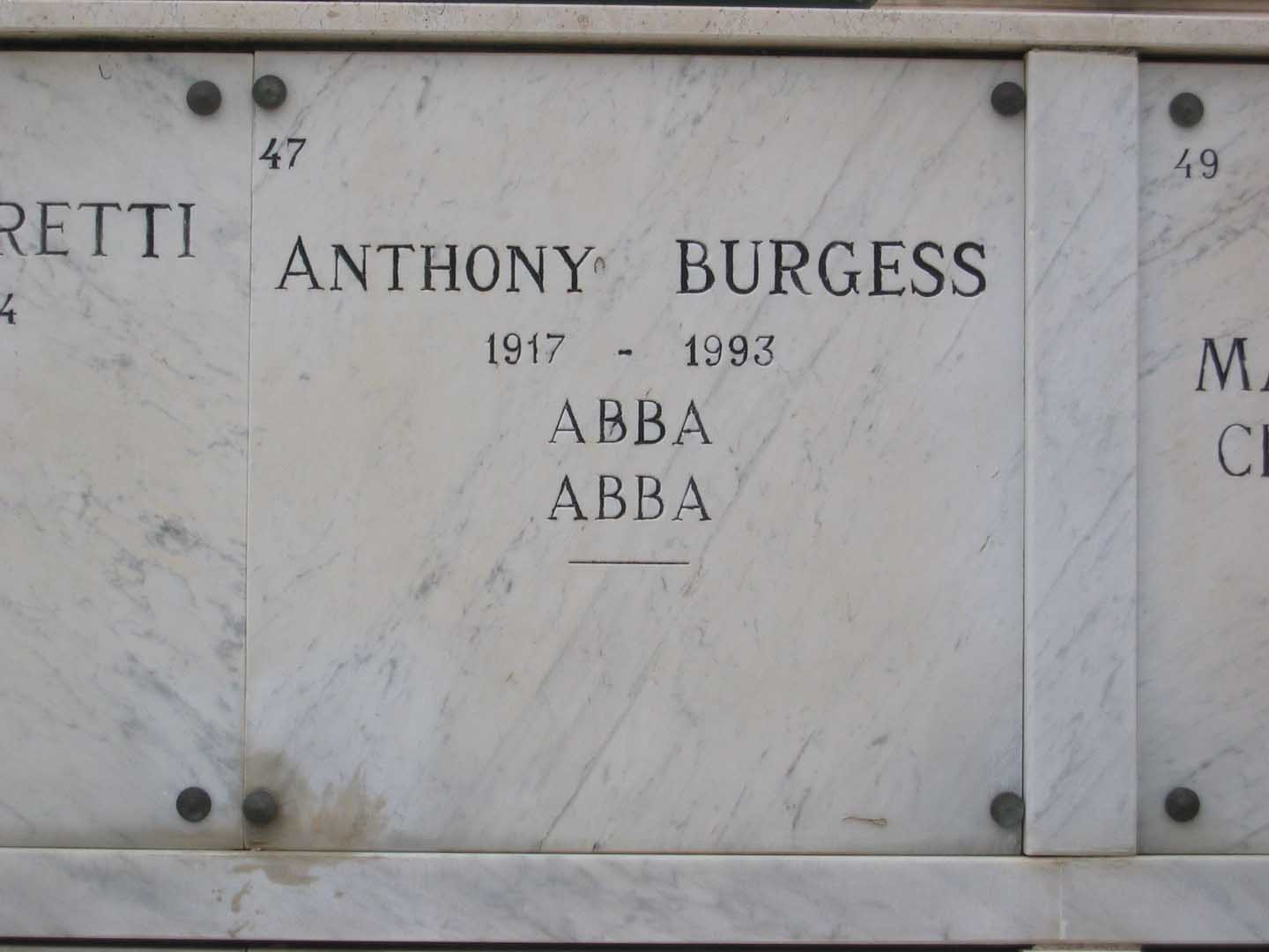 Image result for anthony burgess tombstone