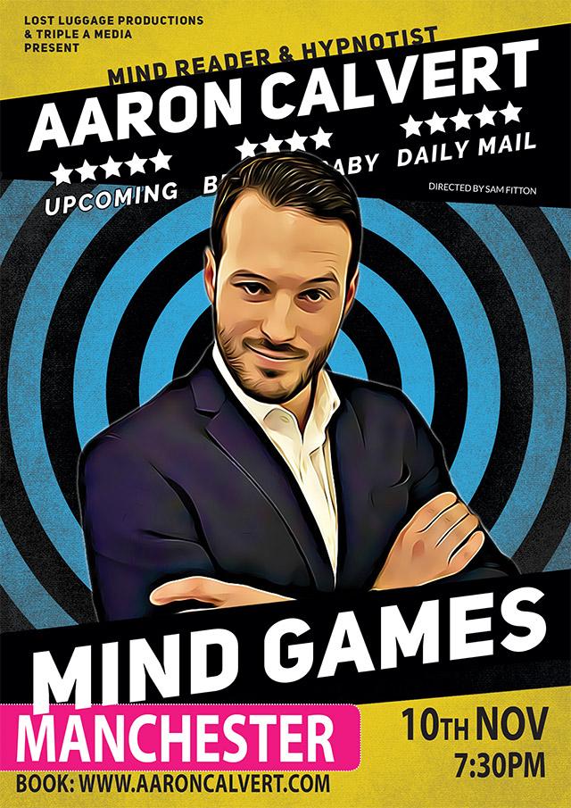 Aaron Calvert Mind Games poster