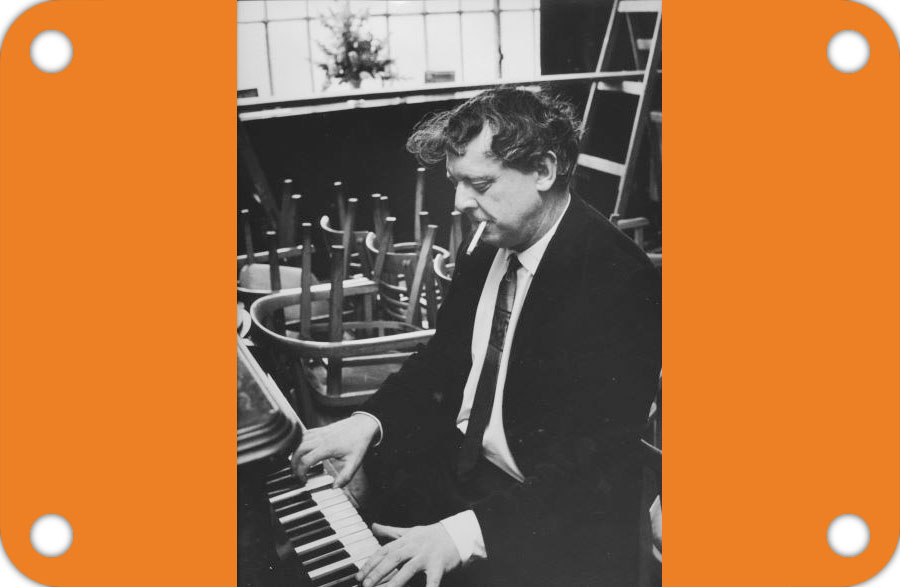 Anthony Burgess at the piano