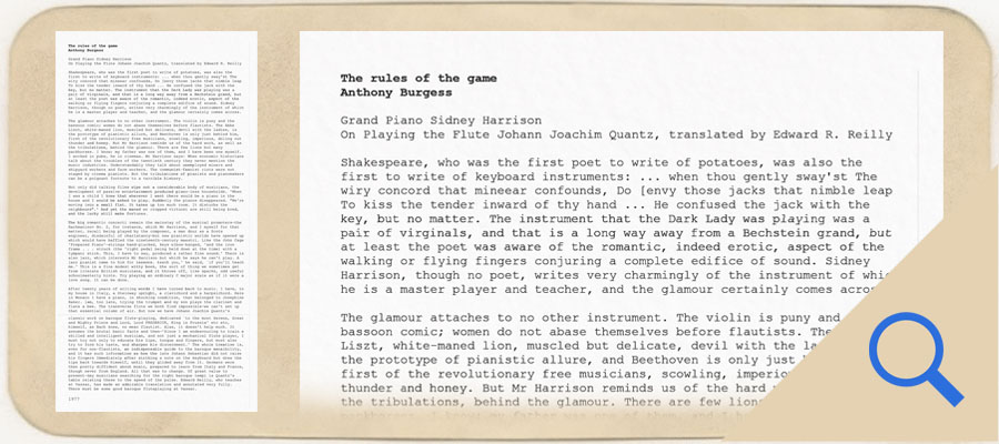 Rules of the Game by Anthony Burgess