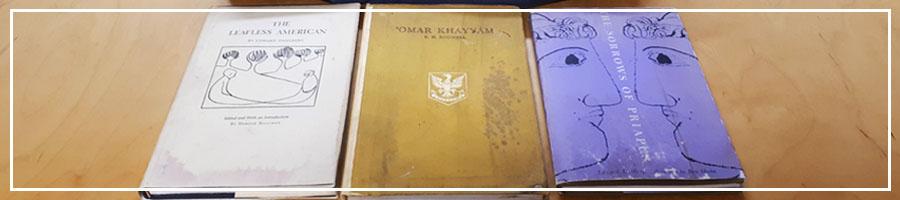 Three books under preservation