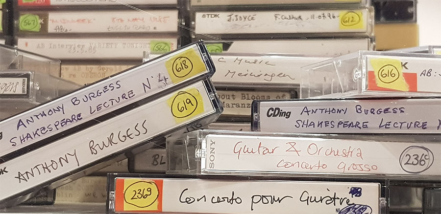 Picture of Anthony Burgess cassette tapes