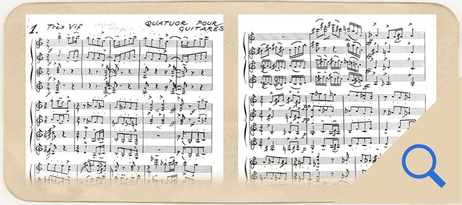 Quatuor pour Guitares manuscript link