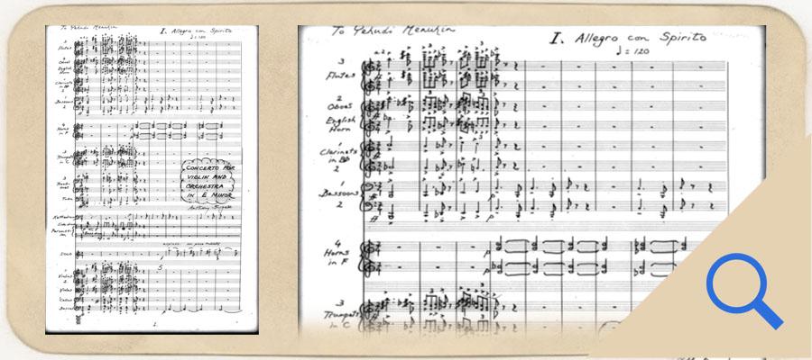 Violin concerto page 1 link