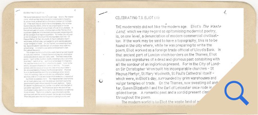 Celebrating T S Eliot link