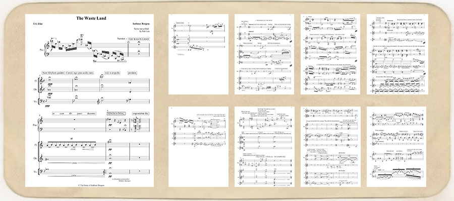 The Waste Land engraved score