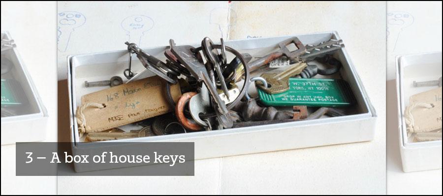 3) A box of house keys
