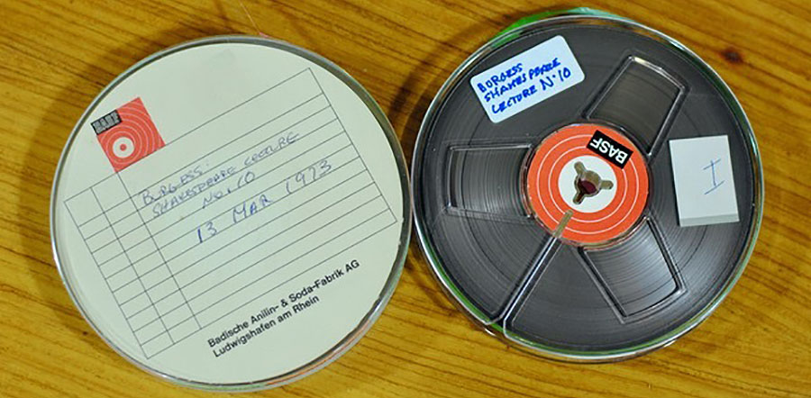Shakespeare lectures on reel to reel tape