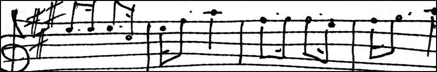 hand-drawn stave