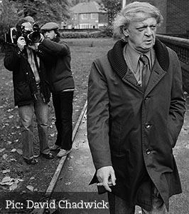 Anthony Burgess and cameramen