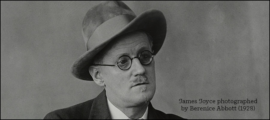 James Joyce photographed by Berenice Abbott (1928)