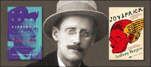 James Joyce with Burgess books