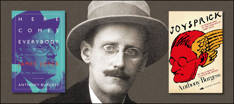 James Joyce with Burgess books
