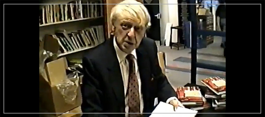Anthony Burgess looking at the camera