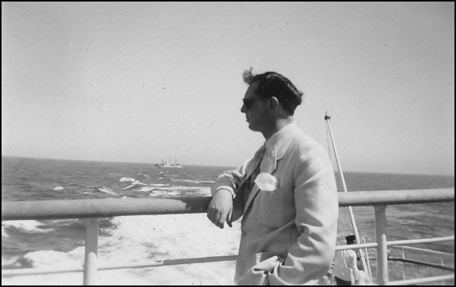 Anthony Burgess sailing to Malaya
