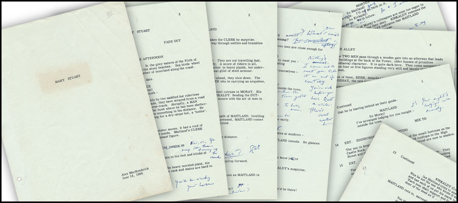 Mary Stuart manuscript scattered pages