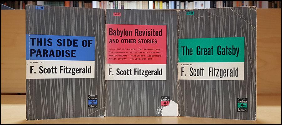 Three F Scott Fitzgerald Books