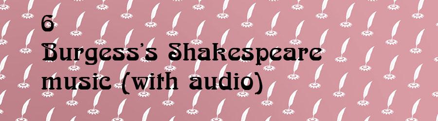 Burgesss Shakespeare music