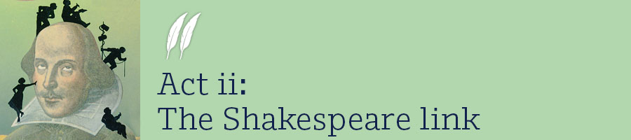 Act 2 The Shakespeare link
