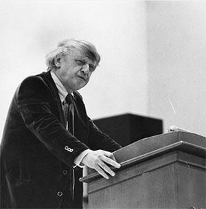 Anthony Burgess lecturing