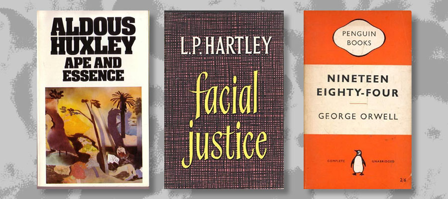 Huxley Hartley and Orwell books