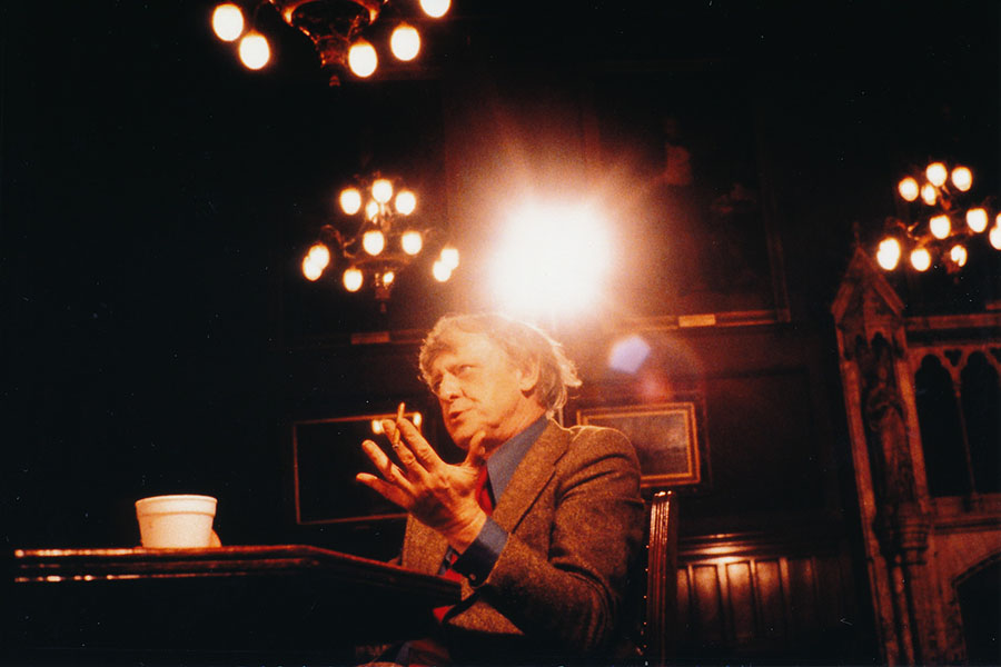 Anthony Burgess in Manchester in 1987