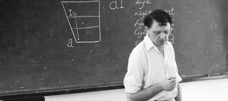 Anthony Burgess teaching