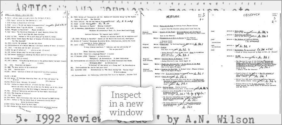 Burgess last writings 1992 and 1993 1 - inspect in a new window