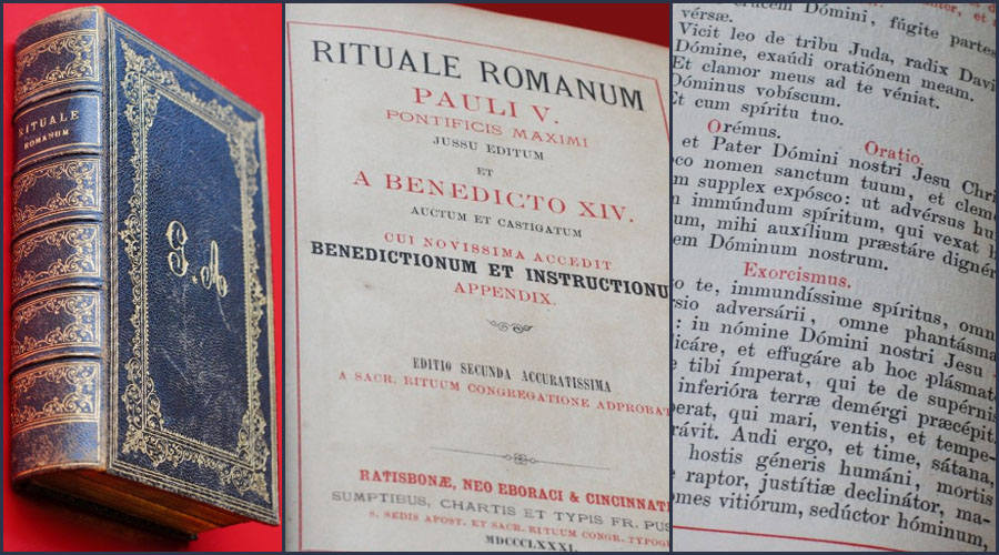 Rituale Romanum cover and inner pages