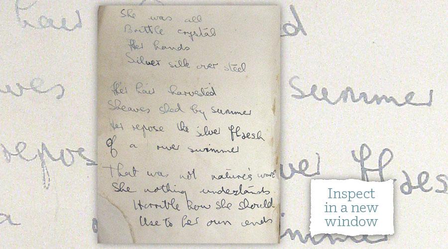 Lynne's handwritten copy of Girl