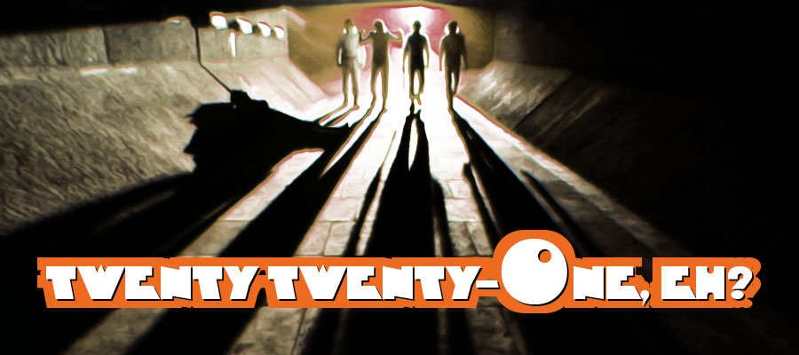 "Droog image with ""Twenty Twenty-One, eh?"""