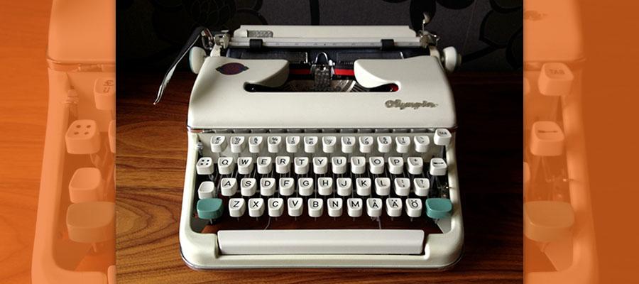 Burgess's Olympia Typewriter