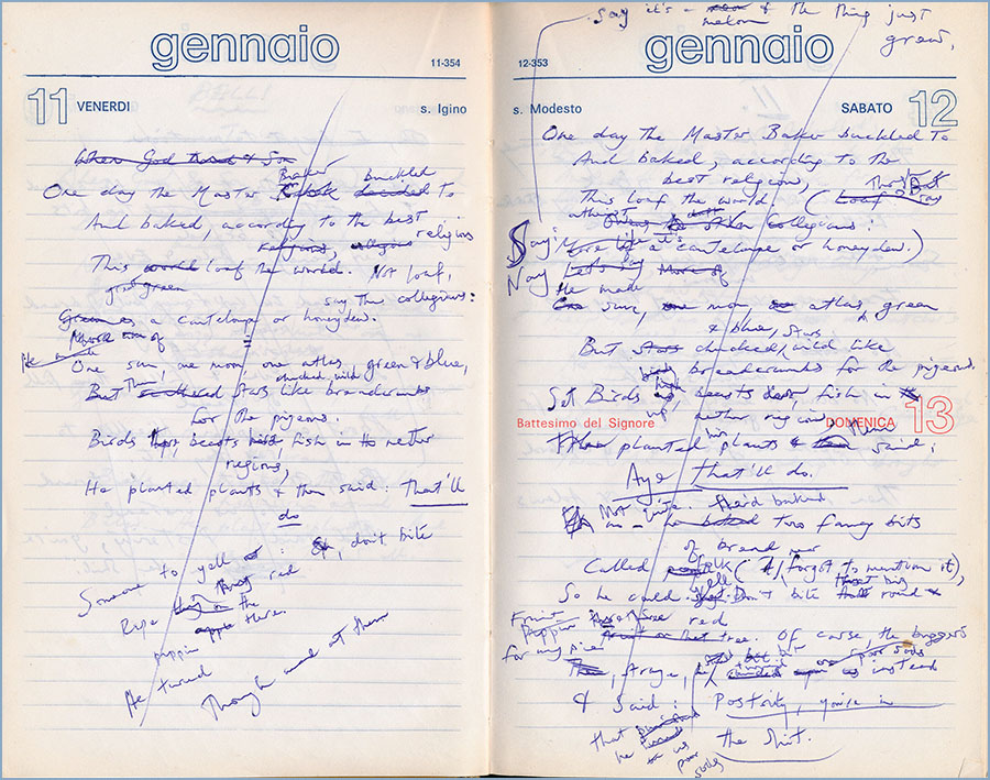 Notebook notes for Creation of the World