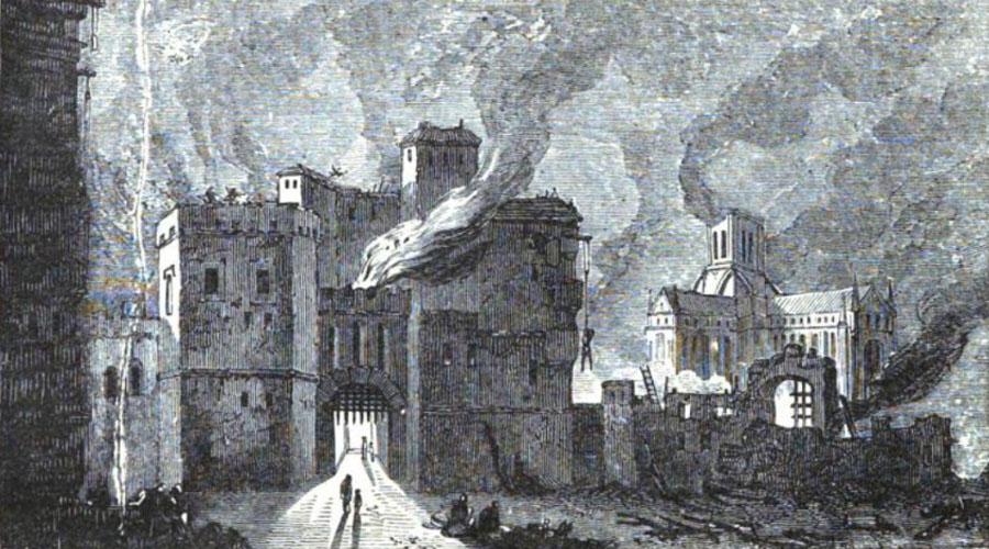 Newgate in flames
