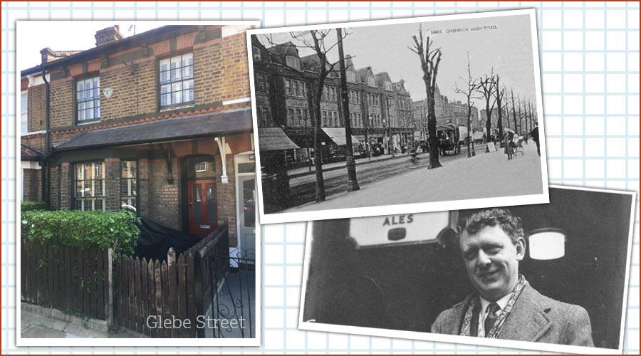 Glebe Street, old Chiswick, Anthony Burgess