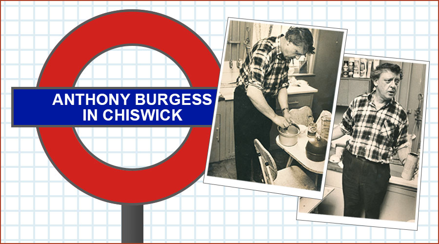 Anthony Burgess in Chiswick plus photos of Burgess in his Chiswick kitchen