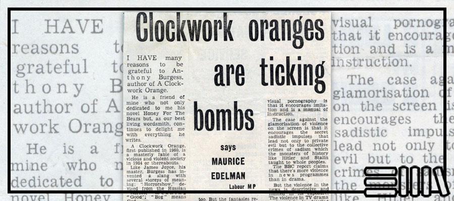 Clockwork oranges are ticking bombs article