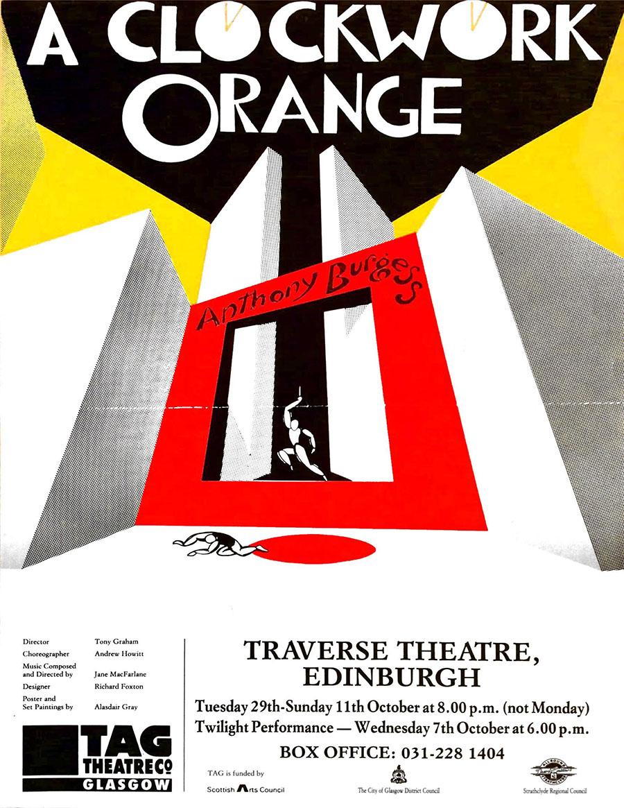 A Clockwork Orange, TAG Theatre Company, Traverse Theatre, Edinburgh