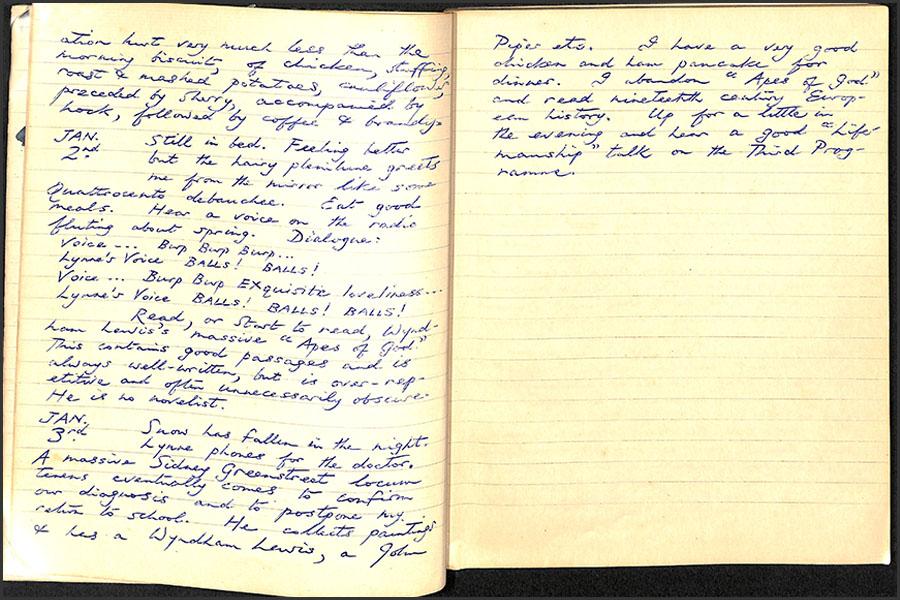 Handwritten notebook pages
