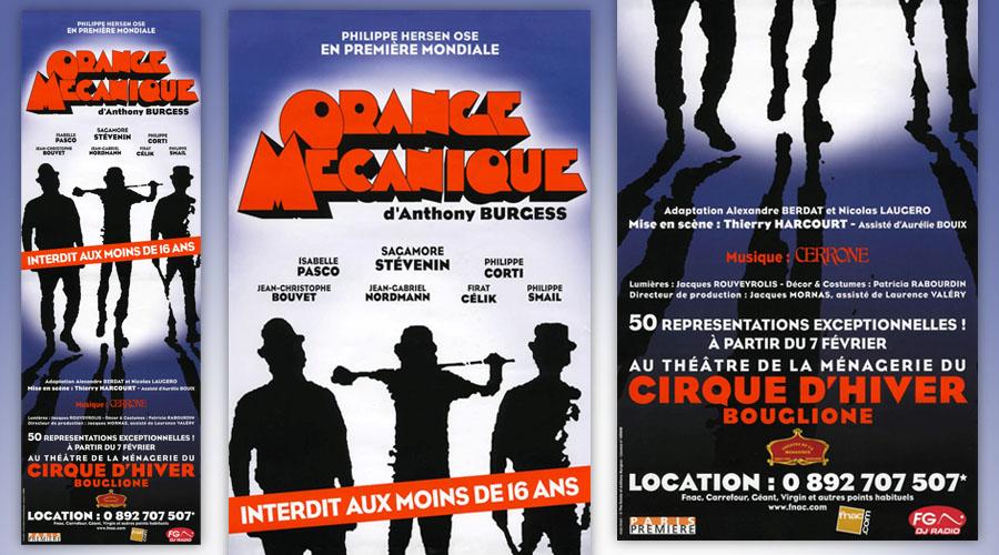 A Clockwork Orange on stage in Paris - poster excerpts
