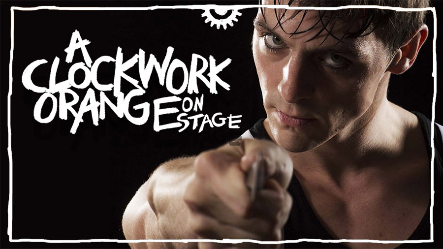 Alex in a threatening pose in A Clockwork Orange in Soho