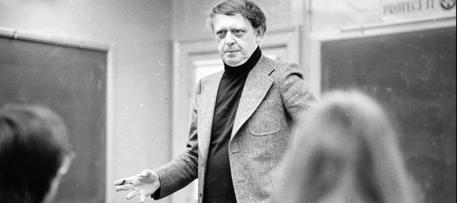 Anthony Burgess at Lynchburg College in 1975