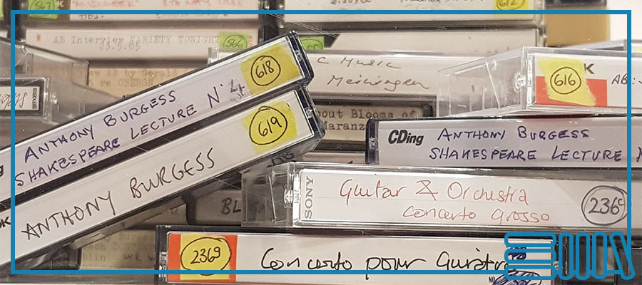 A selection of Anthony Burgess's cassette tapes