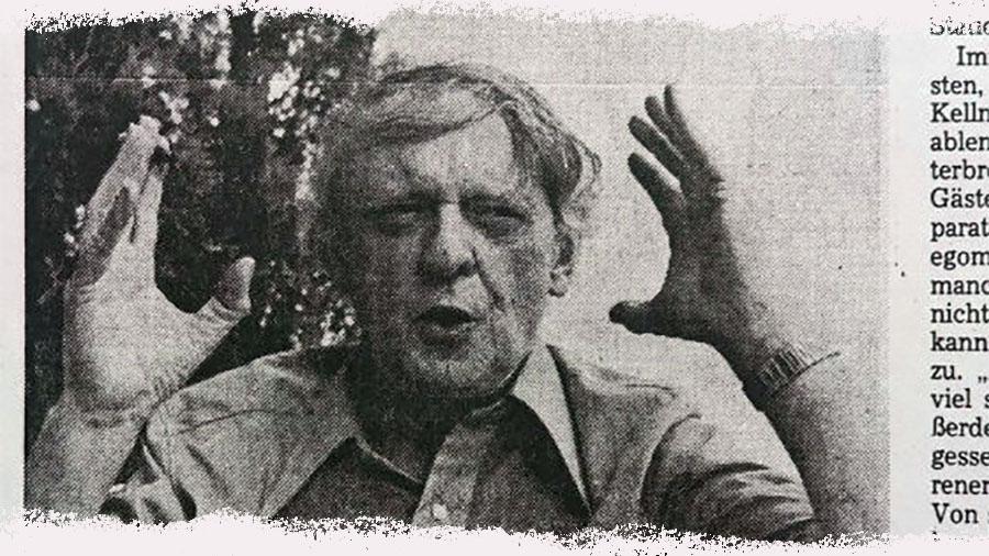 Anthony Burgess gesturing