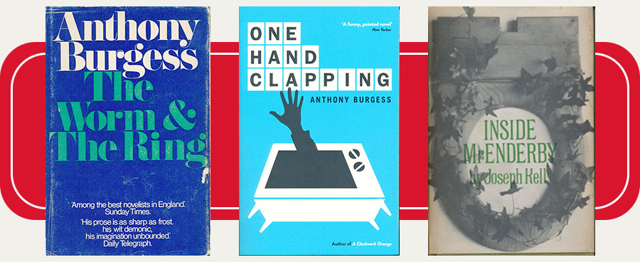 Book covers of The Worm and the Ring, One Hand Clapping and Inside Mr Enderby