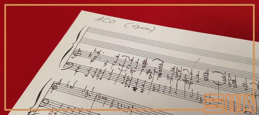Sheet music titled ACO (Opera)